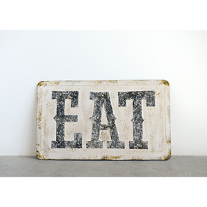 Eat Embossed Metal Wall Décor