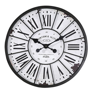 Round 24 In. Wood Clock