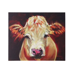 Large Cow Canvas Wall Art