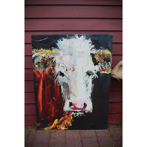Cow 26.5 x 36 In. Canvas Wall Art