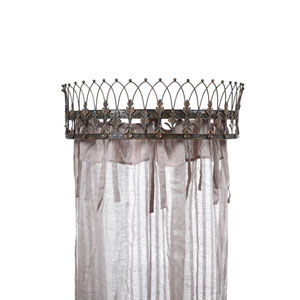 Rust 29 In. Metal Curtain Crown