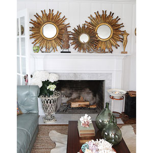 Gold Round 35.5 In. Sunburst Mirror