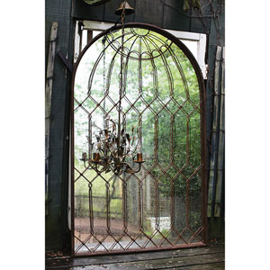 Rust Arched Iron Cage Mirror