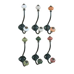 Metal Hook with Ceramic Knobs