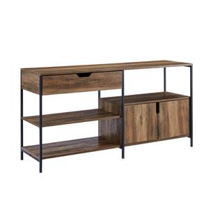 Keaton Barnwood and Black Storage Shelf