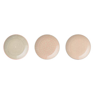 Cecile Round Ceramic Plate, Set of 3