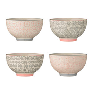 Cecile Round Ceramic Bowl, Set of 4