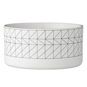 Carine White and Black Ceramic Bowl