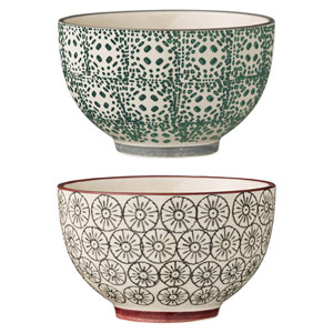 Karine Round Ceramic Bowl, Set of 2
