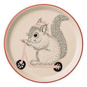 Mollie Squirrel Ceramic Plate