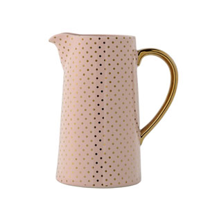 Henrietta Nude with Gold Dots Ceramic Water Pitcher