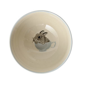 Albert Off White and Blue Ceramic Bowl