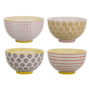 Susie Ceramic Bowl, Set of 4