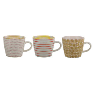 Susie Ceramic Mug, Set of 3