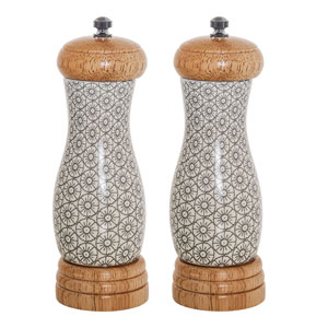 Cécile Gray Ceramic  Salt and Pepper Mill