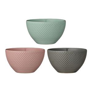 Alberte Round Ceramic Bowl, Set of 3