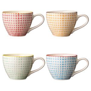 Carla Ceramic Mug, Set of 4