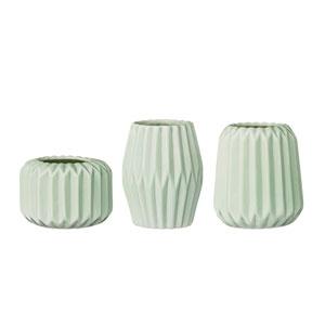 Mint Ceramic Votive Holder, Set of 3