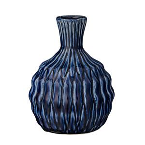 Navy Ceramic Vase