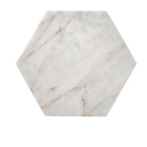 White Marble Hexagon Tray