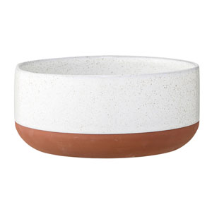 Evelyse White and Clay Terracotta Bowl