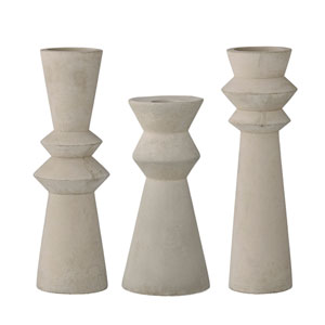Concrete Taper Candleholder, Set of 3