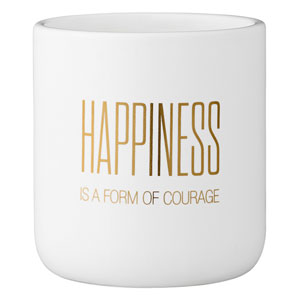 Happiness Is.. Ceramic Flower Pot