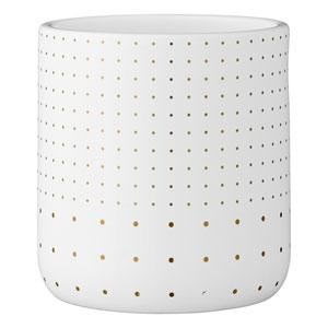 White and Gold Ceramic Flower Pot