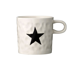 Black Star Ceramic Mug