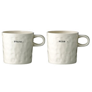 Mine and Yours Ceramic Mug, Set of 2