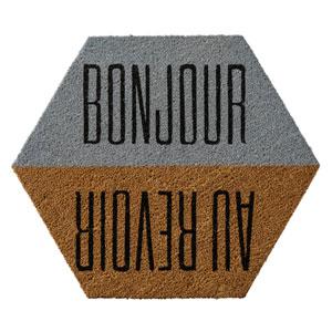 Bonjou Au Revior Coir Doormat