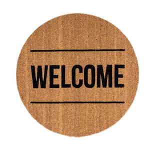 Welcome Round Coir Door Mat