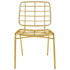 Gold Metal Armless Chair