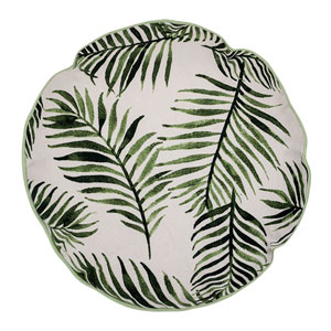 Botanical 16 In. Round Cotton Pillow