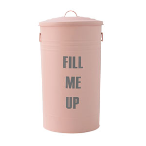 Rose and Gray Fill Me Up Trash Can