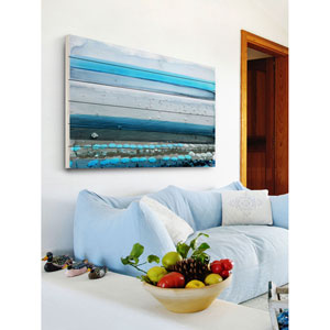 Spiagga 60 x 40 In. Painting Print on White Wood