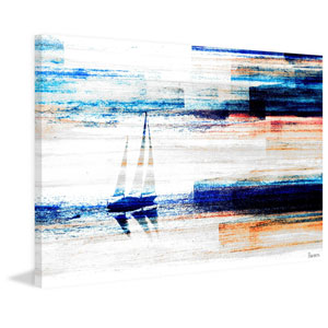 Aegean Sea 60 x 40 In. Painting Print on Wrapped Canvas