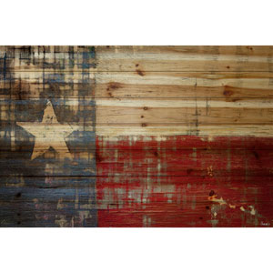 Texas 18 x 12 In. Painting Print on Natural Pine Wood