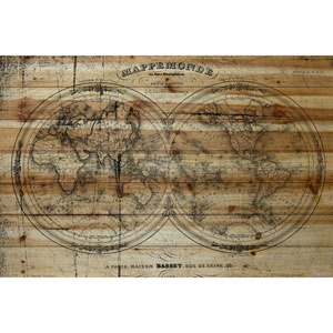 Mappe 60 x 40 In. Painting Print on Natural Pine Wood