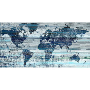 Indigo Countries 60 x 30 In. Painting Print on White Wood