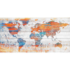 Warm World 40 x 20 In. Painting Print on White Wood
