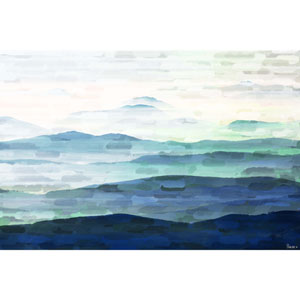 Mountain Tops 45 x 30 In. Painting Print on Wrapped Canvas