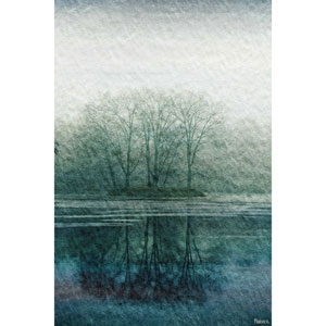 Apple Lake 40 x 60 In. Painting Print on Wrapped Canvas