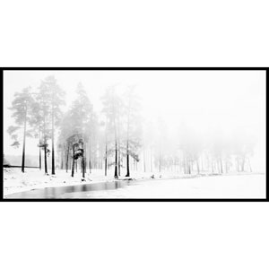 Winter River 45 x 22.5 In. Painting Print on Wrapped Canvas With Floater Frame