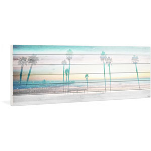 Playa in the Dusk 60 x 20 In. Painting Print on White Wood