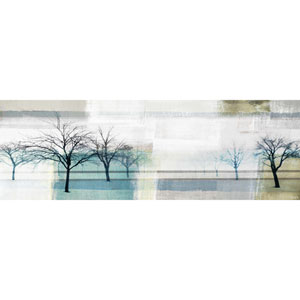 Endless Trees 60 x 20 In. Painting Print on White Wood