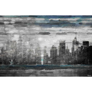 Sunset in NYC 60 x 40 In. Painting Print on Wrapped Canvas