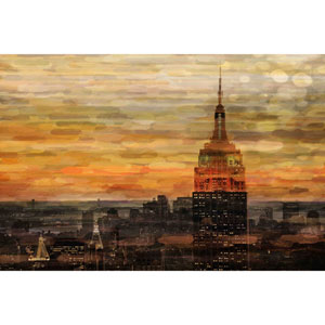 Bronze Night 60 x 40 In. Painting Print on Wrapped Canvas