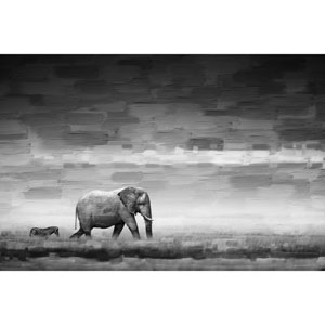 Elephant 60 x 40 In. Painting Print on Wrapped Canvas