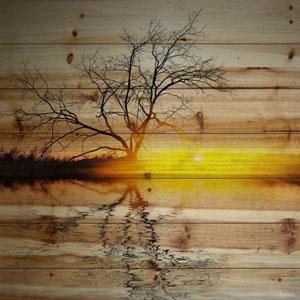 Killaloe 24 In. Painting Print on Natural Pine Wood